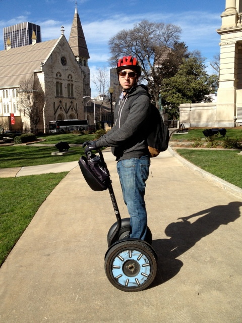 How to appropriately ride a Segway